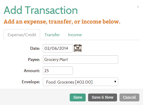 Add multiple transactions at a time